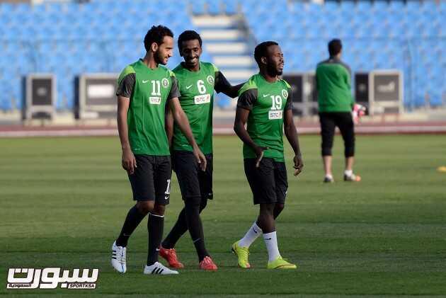 صور خاصة من تمارين المنتخب السعودي